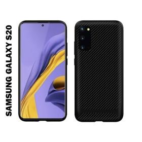 Samsung Galaxy S20 karbon Protect (carbon) mintás szilikon tok, FEKETE - mobshop.hu
