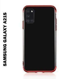 Samsung Galaxy A21s átlátszó szilikon telefontok, ELECTRO PIROS - mobshop.hu