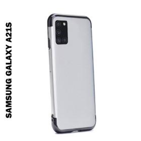 Samsung Galaxy A21s átlátszó szilikon telefontok, ELECTRO FEKETE - mobshop.hu