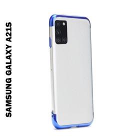 Samsung Galaxy A21s átlátszó szilikon telefontok, ELECTRO KÉK - mobshop.hu