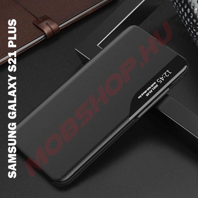 Samsung Galaxy S21 PLUS TECH-PROTECT smart view flip tok, fekete - mobshop.hu