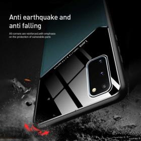 Samsung Galaxy A32 5G bőrbevonatú hibrid tok, mágneses tartókhoz előkészítve, fekete - mobshop.hu