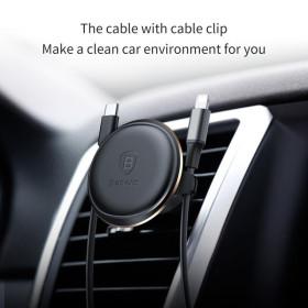 Baseus szellőzőre erősíthető mágneses autós tartó FEKETE - mobshop.hu