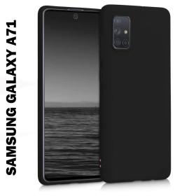 Samsung Galaxy A71 prémium szilikon telefontok FEKETE - mobshop.hu