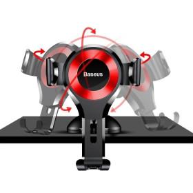 BASEUS gravitációs autóstartó szélvédőre / műszerfalra, fekete-piros - mobshop.hu