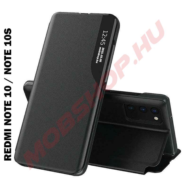 Xiaomi Redmi NOTE 10 / NOTE 10S TECH-PROTECT Smart View flip tok, fekete - mobshop.hu