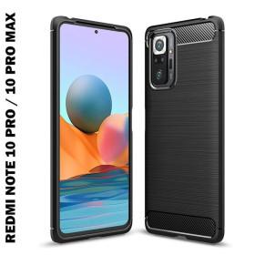 Xiaomi Redmi NOTE 10 PRO / NOTE 10 PRO MAX karbon (carbon) mintás szilikon tok, FEKETE - mobshop.hu