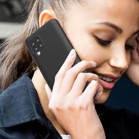 Samsung Galaxy A12 prémium szilikon telefontok, FEKETE - mobshop.hu