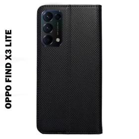 OPPO Find X3 Lite oldalra nyíló flip telefontok, fekete - mobshop.hu