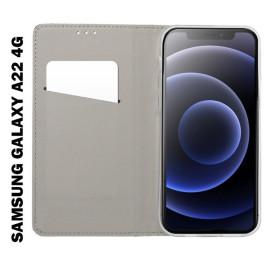 Samsung Galaxy A22 4G (LTE) oldalra nyíló flip telefontok, fekete - mobshop.hu