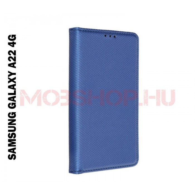 Samsung Galaxy A22 4G (LTE) oldalra nyíló flip telefontok, kék - mobshop.hu