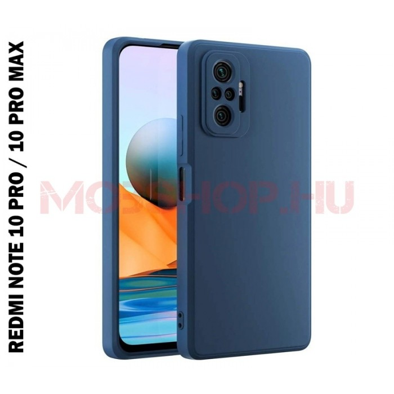 Xiaomi Redmi NOTE 10 PRO / NOTE 10 PRO MAX prémium szilikon telefontok, kék - mobshop.hu