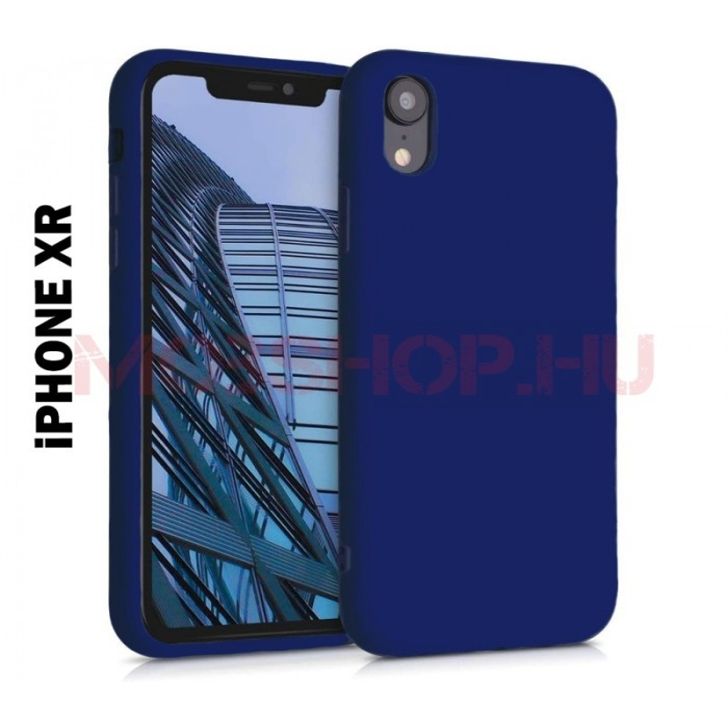 iPhone XR prémium szilikon telefontok, KÉK - mobshop.hu