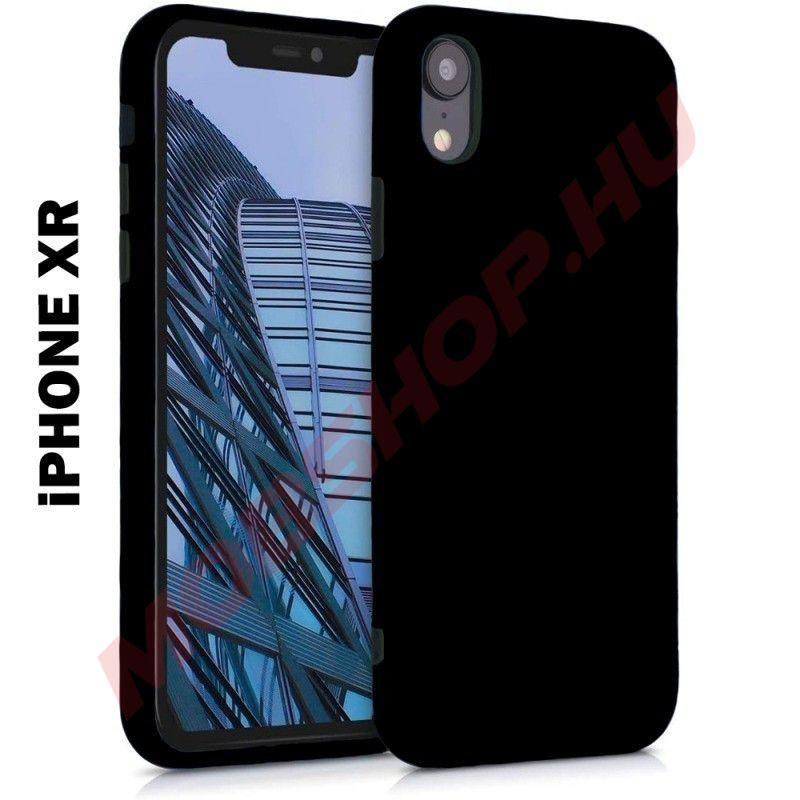 iPhone XR prémium szilikon telefontok, FEKETE - mobshop.hu