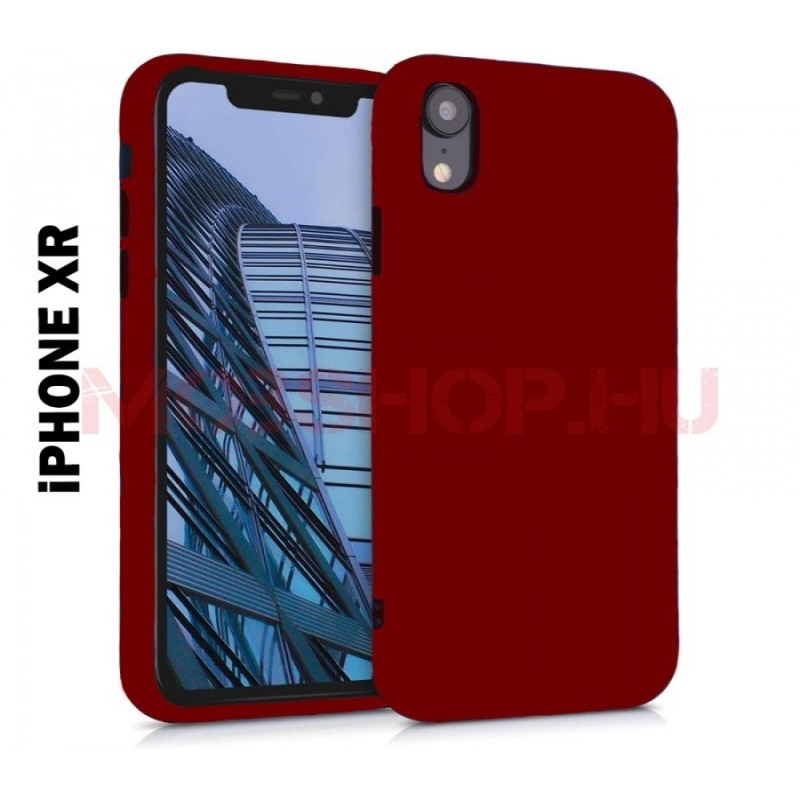 iPhone XR prémium szilikon telefontok, PIROS - mobshop.hu