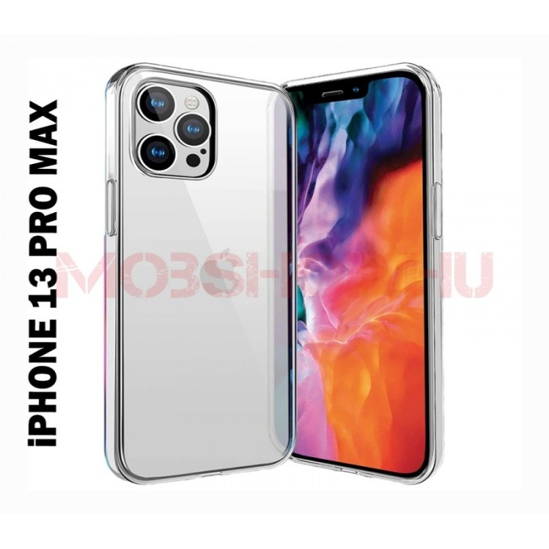 iPhone 13 PRO MAX szilikon telefontok, átlátszó - mobshop.hu