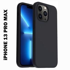 iPhone 13 PRO MAX prémium szilikon telefontok, fekete - mobshop.hu