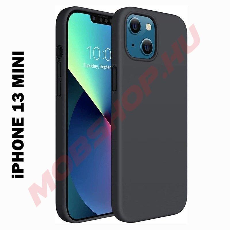 iPhone 13 MINI prémium szilikon telefontok, fekete - mobshop.hu