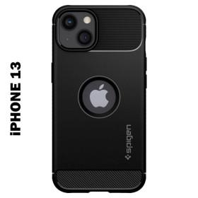 iPhone 13 SPIGEN RUGGED ARMOR szilikon telefontok, FEKETE - mobshop.hu