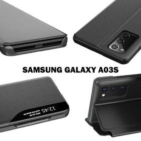 Samsung Galaxy A03S TECH-PROTECT smart view flip tok, fekete - mobshop.hu